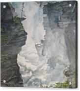 Athabasca Falls Alberta Acrylic Print