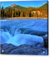 Athabasca Falls In Jasper National Park Acrylic Print