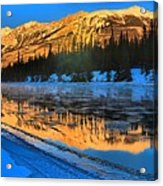 Athabasca River Glow Acrylic Print
