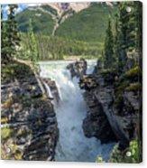 Athabaska Falls, Mt. Hardisty Acrylic Print