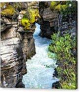 Athabaska River Slot Canyon Acrylic Print