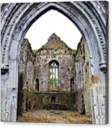 Athassel Priory Tipperary Ireland Medieval Ruins Decorative Arched Doorway Into Great Hall Acrylic Print