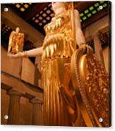 Athena With Nike Acrylic Print
