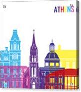 Athens Oh Skyline Pop Acrylic Print