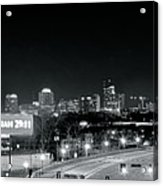 Atlanta Black And White Panorama Acrylic Print
