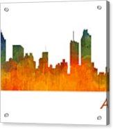 Atlanta City Skyline Hq V1 Acrylic Print