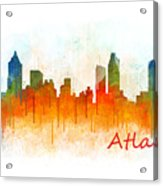 Atlanta City Skyline Hq V3 Acrylic Print