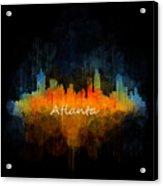 Atlanta City Skyline Uhq V4 Acrylic Print