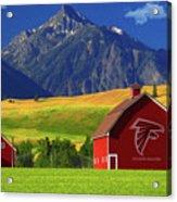 Atlanta Falcons Barn Acrylic Print