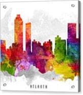 Atlanta Georgia Cityscape 13 Acrylic Print