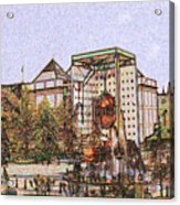 Atlanta Georgia Usa - Color Pencil Acrylic Print