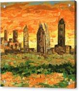 Atlanta Georgia Skyline 10 Acrylic Print