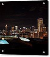 Atlanta Night Skyline Acrylic Print