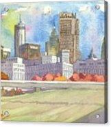 Atlanta Skyline Color Acrylic Print
