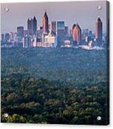 Atlanta Skyline Acrylic Print