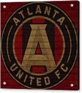 Atlanta United Barn Door Acrylic Print