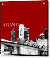 Atlanta World Of Coke Museum - Dark Red Acrylic Print