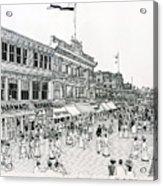 Atlantic City Boardwalk 1900 Acrylic Print