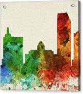 Atlantic City Skyline Panorama Usnjac-pa03 Acrylic Print