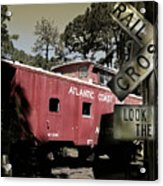 Atlantic Coast  Line Railroad Carriage Acrylic Print