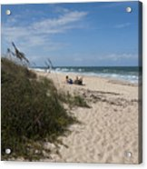 Atlantic Ocean On The East Central Coast Of Florida Acrylic Print