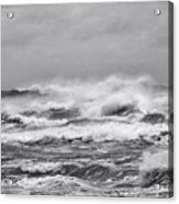 Atlantic Storm In Black And White Acrylic Print