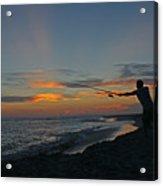 Atlantic Sunset Fishing Acrylic Print
