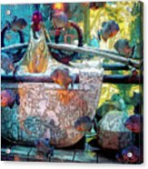 Atlantis Aquarium In Watercolor Acrylic Print