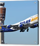 Atlas Air Boeing 747-446 N465mc Phoenix Sky Harbor January 12 2015 Acrylic Print