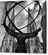 Atlas Holding The Heavens Acrylic Print