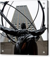 Atlas New York City Acrylic Print