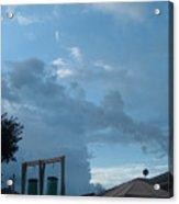 Atmospheric Barcode 19 7 2008 18 Or Titan Acrylic Print