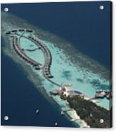 Atolls From The Air Acrylic Print