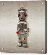 Atomic Tin Robot Acrylic Print