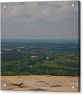 Atop Of Stone Mountain Acrylic Print