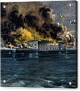 Attack On Fort Sumter Acrylic Print
