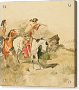 Attack On The Muleteers Acrylic Print