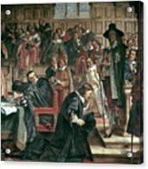 Attempted Arrest Of 5 Members Of The House Of Commons By Charles I Acrylic Print
