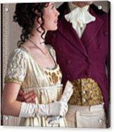 Attractive Regency Couple Acrylic Print