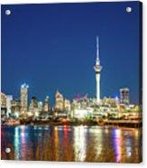 Auckland At Dusk Acrylic Print