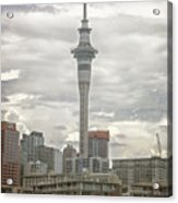 Auckland New Zealand Sky Tower Textured Acrylic Print