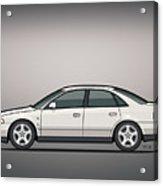 Audi A4 Quattro B5 Type 8d Sedan White Acrylic Print