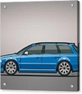 Audi Rs4 A4 Avant Quattro B5 Type 8d Wagon Nogaro Blue Acrylic Print