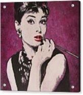 Audrey Hepburn - Breakfast Acrylic Print