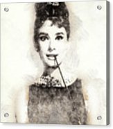 Audrey Hepburn Portrait 01 Acrylic Print