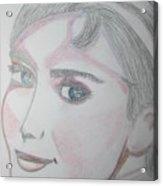 Audrey Hepburn Series 5c Acrylic Print