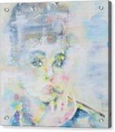 Audrey Hepburn - Watercolor Portrait.16 Acrylic Print