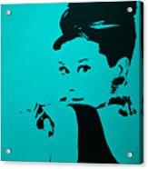 Audrey Light Blue Acrylic Print