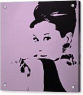 Audrey Pink Acrylic Print