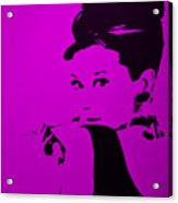 Audrey Purple Acrylic Print